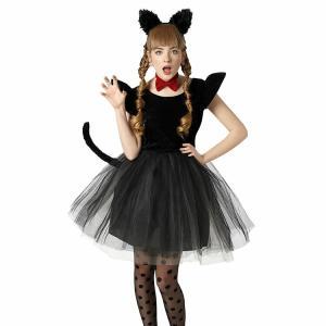 コスプレ 忘年会 猫 キャット 黒猫 プティシャノワール Ladies キャットガール 猫娘 可愛い 猫耳 ネコ耳 かわいい 女性 コスチューム レディース|enteron-kagu-shop|07
