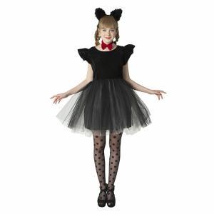 コスプレ 忘年会 猫 キャット 黒猫 プティシャノワール Ladies キャットガール 猫娘 可愛い 猫耳 ネコ耳 かわいい 女性 コスチューム レディース|enteron-kagu-shop|09