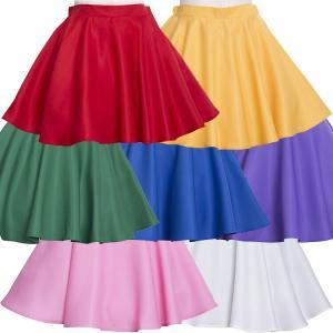 コスプレ フレアスカート IC フレアスカート 赤/黄色/緑/青/紫/ピンク/白 ハロウィン 衣装 仮装 かわいい 可愛い アイドルクローゼット IDOL CLOSET enteron-kagu-shop