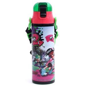 水筒 スプラトゥーン 超軽量・コンパクトロック付ワンプッシュダイレクトボトル580ml スプラトゥーン2/SDC6 任天堂|enteron-kagu-shop