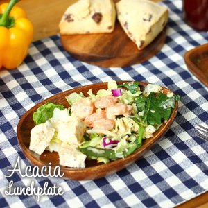 アカシア 木製食器 アカシアエッグ型トレー 95834・94468 enteron-kagu-shop