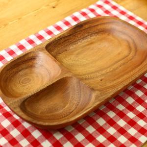 4枚セット 天然木アカシア食器 レクタングルトレー アカシア レクタングルトレー L 仕切付 95846 アカシア キッチン 食卓 食器 お皿 トレー ランチ ディナー|enteron-kagu-shop|03