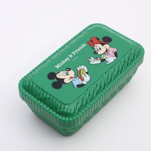 弁当箱 ミッキー ラタンバスケット風ランチボックス Mickey×Friendsピクニック/LLN6 キャラクター ディズニー ミッキー 弁当箱 子ども 子供|enteron-kagu-shop
