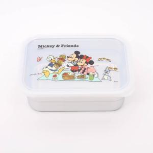 保存容器 ミッキー ステンレス保存容器 850ml Mickey×Friendsピクニック/STS9 フードパック タッパー 保存容器 容器 ステンレス お弁当箱 お弁当 ランチ|enteron-kagu-shop