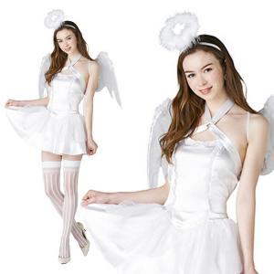 コスプレ ハロウィン エンジェル 天使 NYW_2101 ホワイトキューピッド S ハロウィンコスチューム 大人 女性 コスチューム ドレス 悪魔 小悪魔 ペア カップル|enteron-kagu-shop