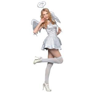 コスプレ ハロウィン エンジェル 天使 NYW_2101 ホワイトキューピッド S ハロウィンコスチューム 大人 女性 コスチューム ドレス 悪魔 小悪魔 ペア カップル|enteron-kagu-shop|02