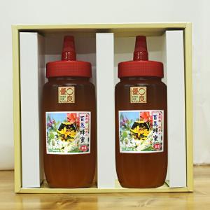 はちみつ 国産 百花蜂蜜 500g×2本セット ギフトボックス付 無添加 純粋 TA500/坂井養蜂場 はちみつ ハチミツ ハニー 日本産 アカシア 贈答 ギフト enteron-kagu-shop