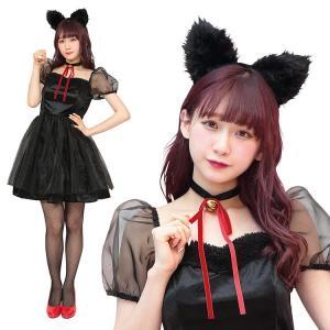 クリスマス コスプレ 黒猫 猫 キャットガール TG ブラックキャット 衣装 仮装 かわいい 可愛い 女性 レディース パーティー イベント トキメキグラフィティ|enteron-kagu-shop