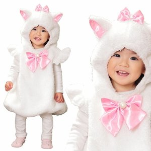 ハロウィン コスプレ ベビー HW マシュマロホワイトキャット ベビー 赤ちゃん コスチューム コスプレ 衣装 ハロウィーン パーティー 出し物 歓迎会 enteron-kagu-shop