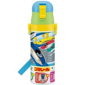 水筒/プラレール 超軽量コンパクトロック付ワンプッシュダイレクトボトル470mlプラレール16 SDC4
