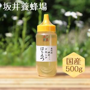 はちみつ 国産 特選アカシア蜂蜜 500g TA500 坂井養蜂場|enteron-kagu-shop