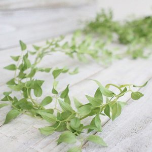 いなざうるす屋 フェイクグリーン スマイラックスガーランド 壁飾り 壁掛けインテリア 観葉植物 ウォールデコレーション 緑 壁掛け インテリア|enteron-kagu-shop