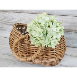 いなざうるす屋 フェイクグリーン ミントグリーン色の紫陽花 壁飾り 壁掛けインテリア 観葉植物 ウォールデコレーション 緑 壁掛け インテリア|enteron-kagu-shop
