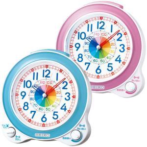 セイコー 知育目覚まし時計 知育時計 水色/ピンク KR887 知育 目覚まし時計 enteron-shop2