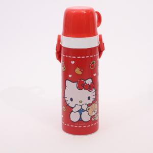 水筒 ステンレス キティ 超軽量・コンパクト2WAY中栓ステンレスボトル 600ml ハローキティ ...