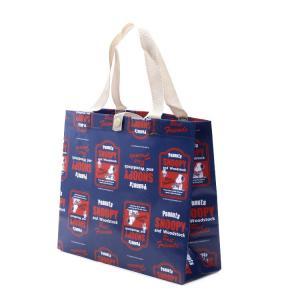 スヌーピー レトロラベル 不織布レジャーバッグ A4 SNOOPY/FBS6 レジかごバッグ ショッピングバッグ お買い物バッグ バック エコバッグ|enteron-shop2