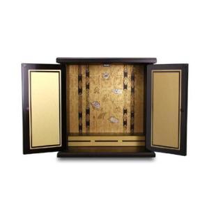 仏壇 漆器ミニ仏壇 大 金蒔 118628|enteron-shop