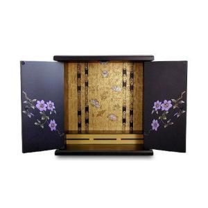 仏壇 漆器ミニ仏壇 小 鉄仙 126005|enteron-shop
