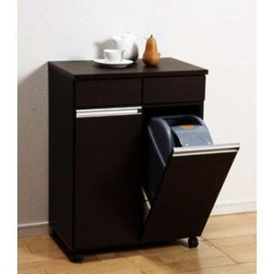 ゴミ箱 キッチン収納 ダイニングダストボックス 2D ブラウン 完成品 23705|enteron-shop