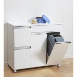 ゴミ箱 キッチン収納 ダイニングダストボックス 4D ホワイト 完成品 23713|enteron-shop