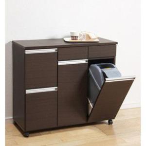 ゴミ箱 キッチン収納 ダイニングダストボックス 4D ブラウン 完成品 23715|enteron-shop