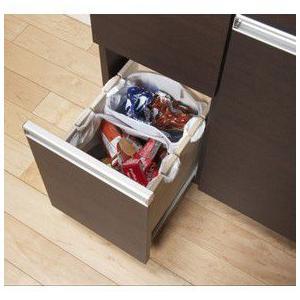 ゴミ箱 キッチン収納 ダイニングダストボックス 4D ブラウン 完成品 23715|enteron-shop|02
