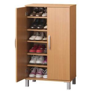 家具収納 ツードアシューズボックス 組立式 26199|enteron-shop