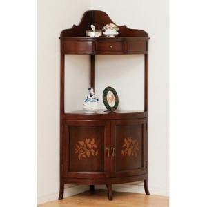 アンティーク調家具 マルシェ コーナーラック 完成品 28567|enteron-shop