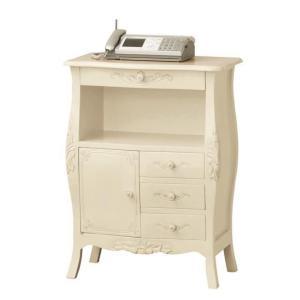 アンティーク調家具 コモ ファックス台 ホワイト 完成品 92172|enteron-shop