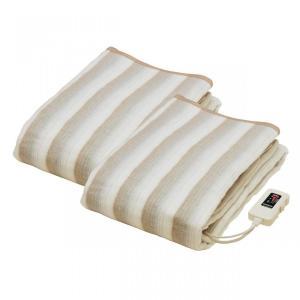 椙山紡績 掛け敷き毛布 188×130cm NA-013K 2枚セット|enteron-shop