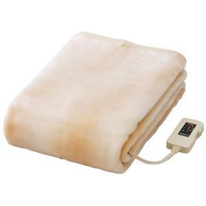 椙山紡績 電気ボアしき毛布 ロングサイズ(水洗い可)ベージュ NA-08SL(BE)|enteron-shop