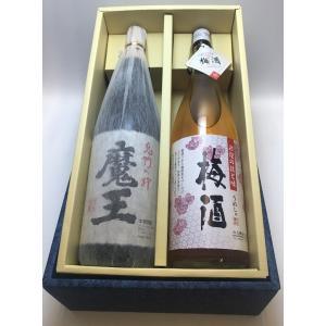 白玉醸造ギフト1升セット 『魔王+彩煌の技と味 梅酒』 entia