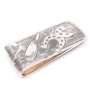 マネークリップ シルバー925 ラッキーモチーフ てんとう虫 馬蹄 コルノ クローバー 13 イタリア製 ベルフィオーレ プレゼント ギフト|entiere