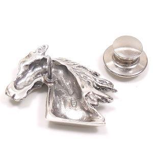 ピンブローチ ラペルピン 馬 シルバー925 ベルフィオーレ|entiere|04