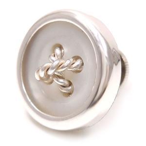 ピンブローチ ラペルピン 丸型ボタン風 白蝶貝 シルバー925 ベルフィオーレ|entiere