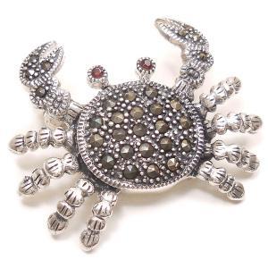 シルバーブローチ 蟹 マーカサイト|entiere