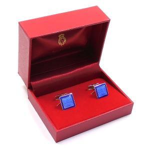 カフスボタン カフリンクス リリー模様 ブルー枠 シルバー925 ベルフィオーレ entiere 05