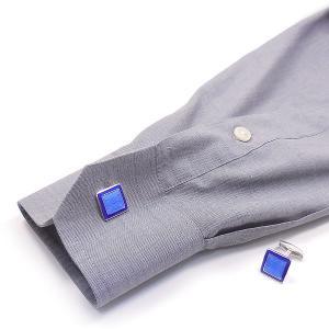 カフスボタン カフリンクス リリー模様 ブルー枠 シルバー925 ベルフィオーレ entiere 06