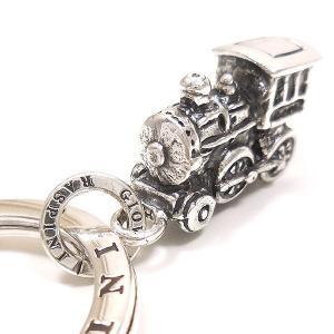 キーリング おもちゃ 機関車 ダブルリング シルバー925 CHARMS&Co. イニシャル刻印(別料金)|entiere|02