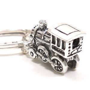 キーリング おもちゃ 機関車 ダブルリング シルバー925 CHARMS&Co. イニシャル刻印(別料金)|entiere|03