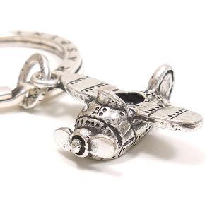 キーリング おもちゃ プロペラ機 ダブルリング シルバー925 CHARMS&Co. イニシャル刻印(別料金)|entiere|02