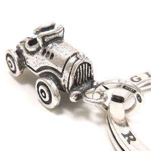キーリング おもちゃ 自動車 ダブルリング シルバー925 CHARMS&Co. イニシャル刻印(別料金)|entiere|02