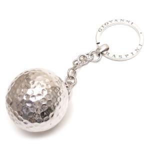 シルバーキーホルダー キーリング 実物大ゴルフボール ジョバンニ・ラスピーニ イタリア製|entiere