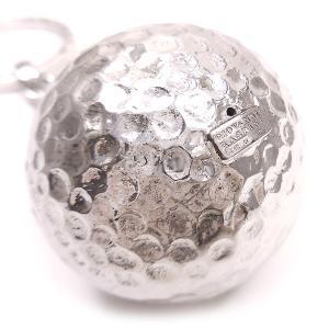 キーホルダー キーリング シルバー925 実物大ゴルフボール イタリア製 ジョバンニ・ラスピーニ メンズ|entiere|02