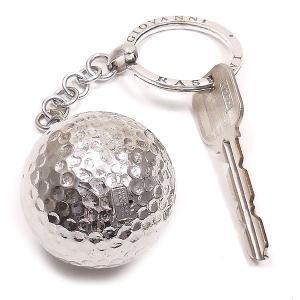 シルバーキーホルダー キーリング 実物大ゴルフボール ジョバンニ・ラスピーニ イタリア製|entiere|06