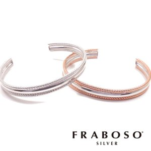 バングル ブレスレット シルバー925 イタリアンシルバー カット入り FRABOSO フラボッソ BR03203BC entiere