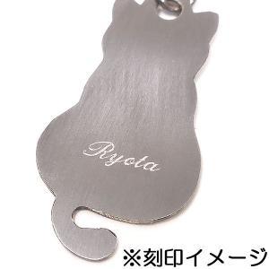 しおり ブックマーカー 栞 ブックマーク おすわり猫 黒猫 シルバー925 名入れ可 (刻印別料金)|entiere|02