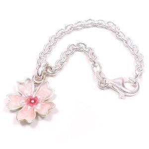 キーホルダー バッグチャーム シルバー925 桜 エナメル彩色 レディース プレゼント ギフト|entiere