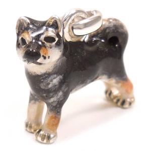チャーム ペンダントトップ 柴犬 黒 シルバー925 サツルノ|entiere