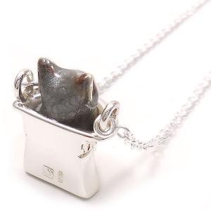 ネックレス レディース 帽子 猫 はちわれ 灰 61cm ペンダント シルバー925|entiere|04